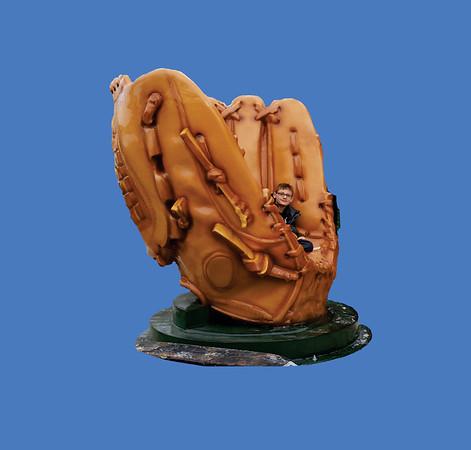 Baseball Glove, 8'H #6141