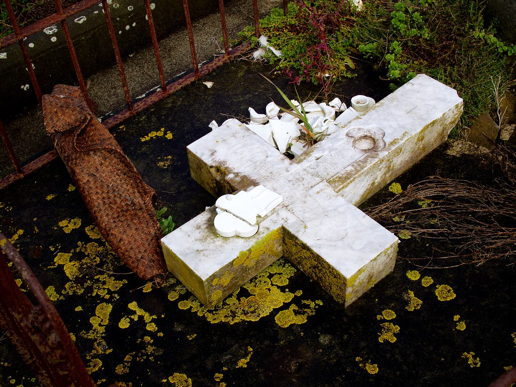 Burial Plot and Kete, Near Maxwell, Wanganui, New Zealand