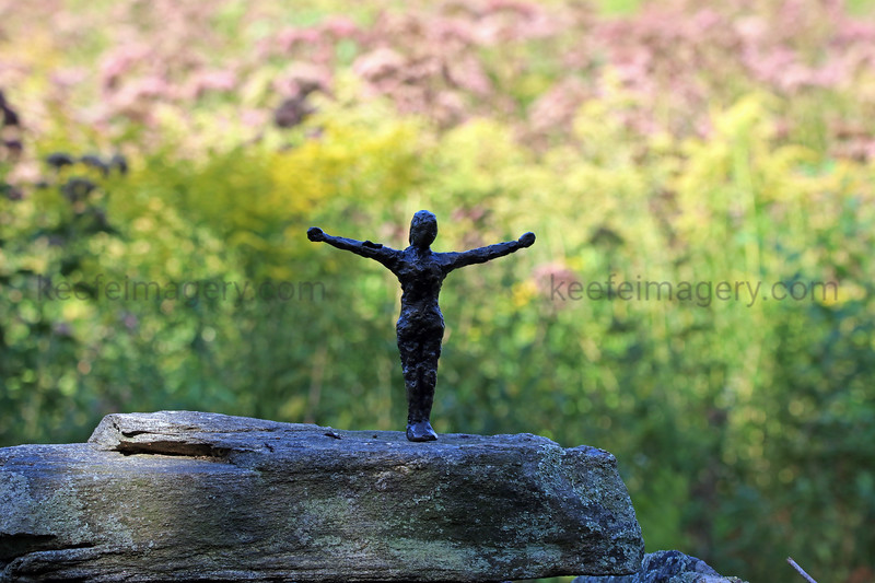 Small Statues in the Woods