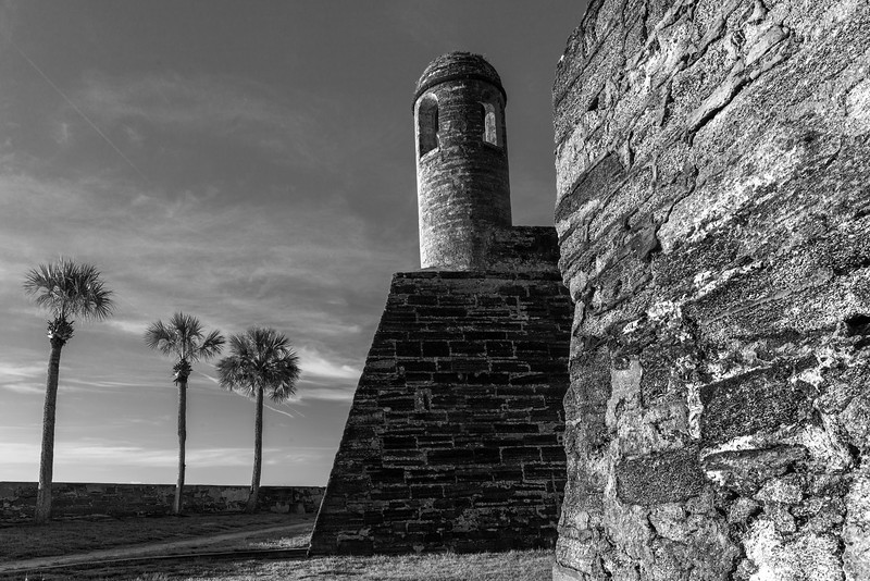 Castillo de San Marcos in Black and White