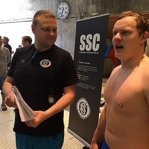 Goe Thomas!!! Vant med beste poengsum under Stavanger Open på 100 meterene sammenlagt.