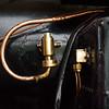 Antik steam locomotive, brass and copper details.