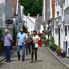 Øvre Strandgate, Old Stavanger. tourists.