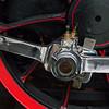 Polished. Red railwaywheel.