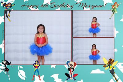 Maryjane's 4th Birthday Party