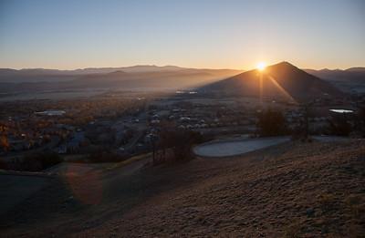 quarry sunrise