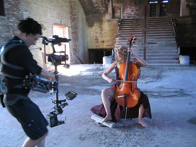 Carl documents a cello performance with a Steadicam rig.