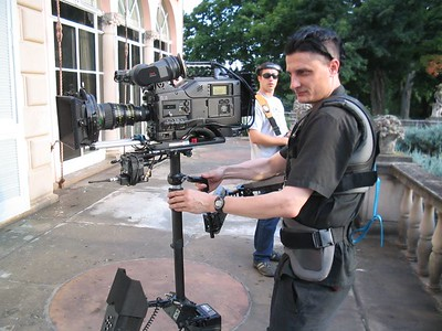 At the Cuneo Mansion with the Sony F900 CineAlta HD camera