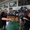 PSA shot with Sony EX3, Letus adapter, Steadicam : September 2, 2011.  Steadicam gig for Tribeca Flashpoint Media at the Lakeshore Athletic Club in Chicago, IL. Shooting a PSA featuring Chicago Bulls point guard Derrick Rose. Recording to a Sony EX3 with a Letus 35mm lens adapter and running a cable to video village for high definition monitoring.  Director: Paul Matian. DP: Shaun Hildner. 1st AC: Max Flick (seen operating the Bartch Focus Device). Carl Wiedemann on Steadicam.  Thanks to James Richards who shot these with his Canon 5D.