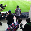 Promo shoot with Red Epic at Toyota Park : May 2, 2012. Promo shoot with Vox Media at Toyota Park featuring goalie Sean Johnson. WIth John Waterman pulling focus.  Photos by Leland Haushalter and Lawrence Daufenbach.