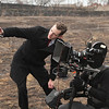 Short Film - 35mm Konvas 2M on Steadicam : March 25, 2011.  On location in Monticello, IL for The Last Cosmonaut: A short shot on 35mm film with a Konvas 2M with Lomo anamorphic lenses.  Director and DP: J. Van Auken.  Camera crew: Dan, Corey, and Shane (pulling focus). Steadicam Operation by Carl Wiedemann.  Production stills by my assistant Nick Norton.