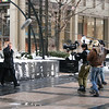 Steadicam Operation at the Tribune Plaza, Chicago : February 25, 2010. Shooting with the Red Cam in Chicago for the short film Diversion.  Director: Chris Folkens.  Cinematography: Joe Farris.  Steadicam Operation: Carl Wiedemann.  Also pictured: David Wightman pulling focus and Cannon Kinnard the 1st AD.  Photos shot by my assistant Nicholas Norton.