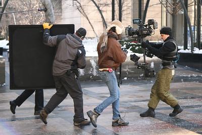 Steadicam Operation at the Tribune Plaza, Chicago
