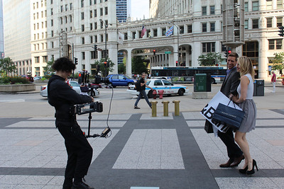 Promo shoot on Michigan Avenue with Canon 7D on Flyer LE