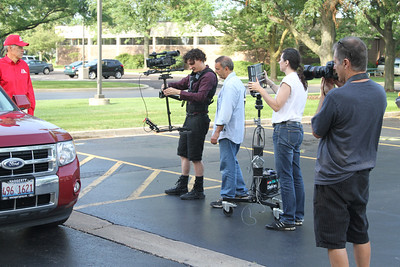 Commercial shoot with Steadicam Pilot