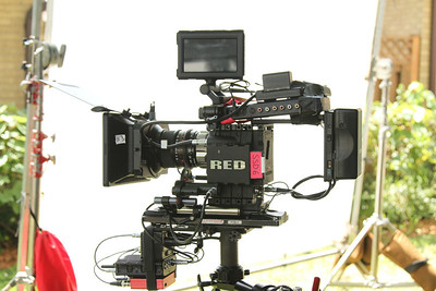Red Epic with prime lens on the Steadicam EFP, with Bartech remote focus and Heden M26p motor. July 7, 2012.
