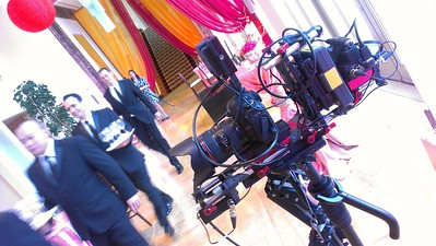 March 19, 2013. Canon 7D on my Steadicam Flyer LE at the Peninsula Hotel in Chicago shooting a promotional video for the hotel.