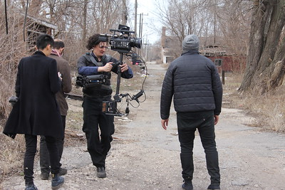 March 30, 2013. Red One on Steadicam EFP. Working on a short film, an SAIC student project in Gary, IN.
