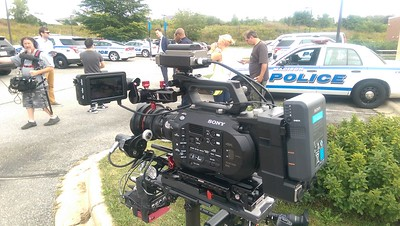 September 18, 2015. Shooting for The Daily Show in Madison, WI with a Sony FS7 on my Steadicam EFP.