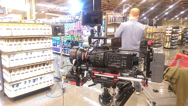 February 5, 2015. Sony FS700 on a Steadicam Flyer LE. Video shoot for Topco Associates.