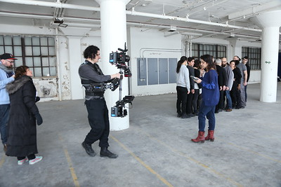 February 7, 2015.  Short Performance Film shoot in south side Chicago warehouse with Red Epic on my Steadicam EFP.
