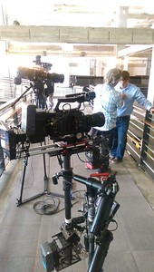August 6, 2015. Sony FS7 on Steadicam for a corporate video shoot at the Tribune Tower in Chicago.