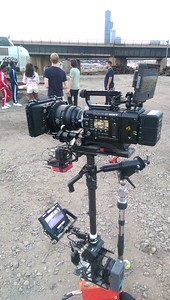 August 5, 2015. Sony F55 on Steadicam for a music video shoot adjacent Chicago rail yard.