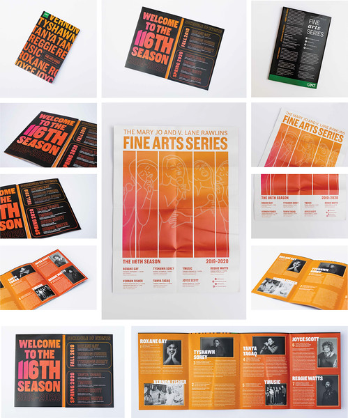 First Place: 2019-2020 Fine Arts Series Brochure