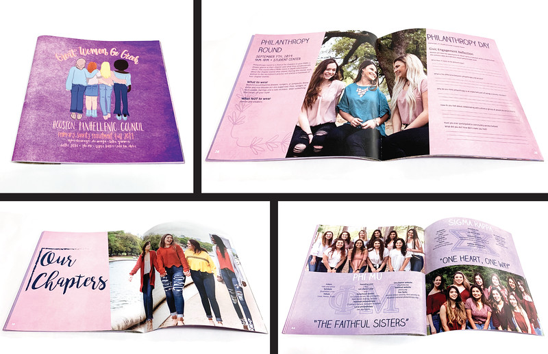 First Place: Houston Panhellenic Recruitment Booklet