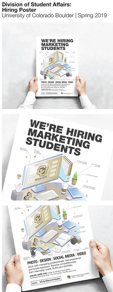 First Place: Student Affairs Communication Hiring Poster