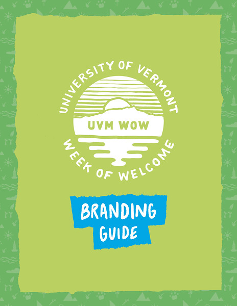 First Place: UVM Week of Welcome Branding