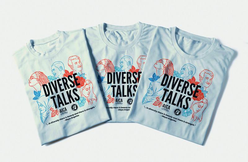 Third Place: Diverse Talks T-Shirt