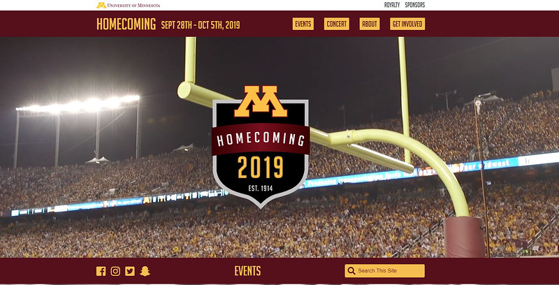 Second Place: Homecoming Website