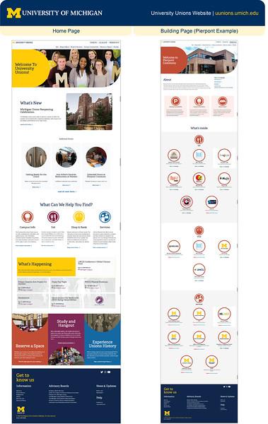 Honorable Mention: U-M University Unions Website