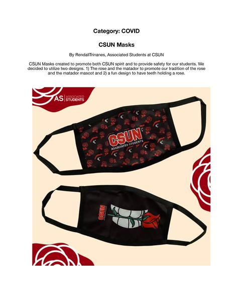 First: CSUN Masks; Associated Students, California State University–Northridge