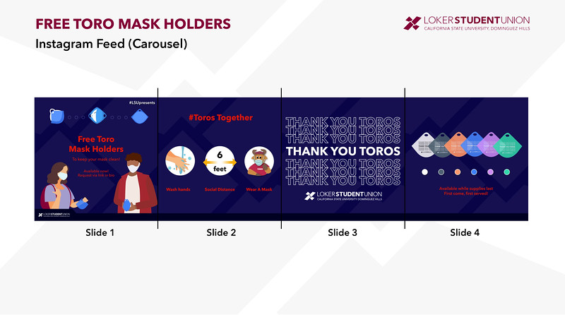 Second: Thank You Toros Mask Holder Campaign; Loker Student Union at California State University–Dominguez Hills