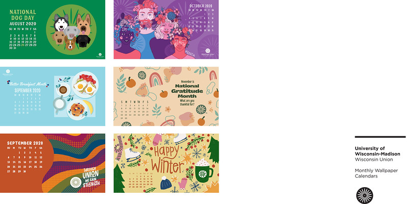 First: Monthly Wallpaper Calendars; University of Wisconsin–Madison