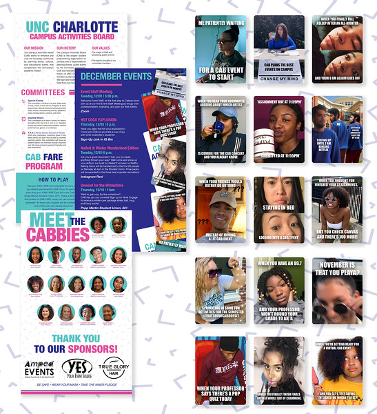 Second: CAB Events Newsletter; University of North Carolina–Charlotte