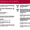 Honorable Mention: Weeks of Welcome Schedule; IUPUI