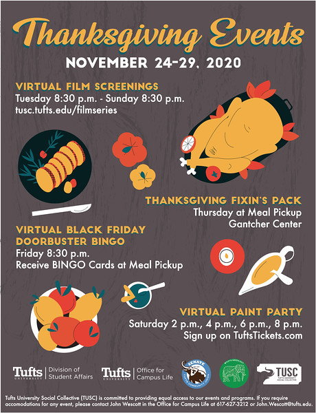 Honorable Mention: TUSC Thanksgiving on Campus; Tufts University