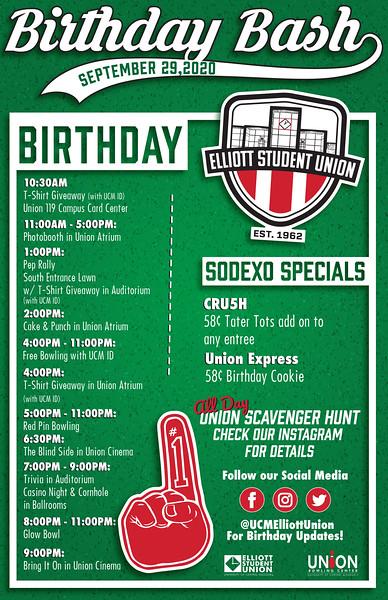 Second: Union Birthday Bash; University of Central Missouri