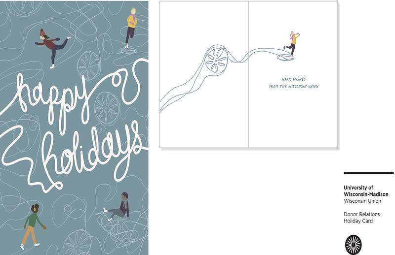 First: Donor Relations Holiday Card; University of Wisconsin–Madison