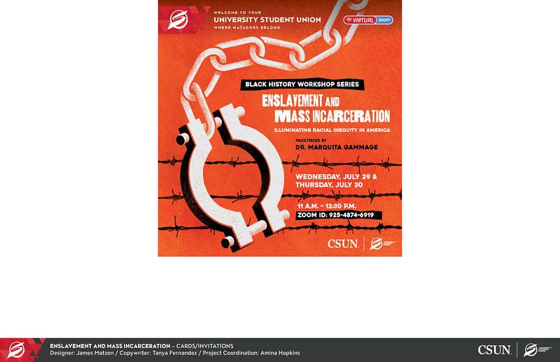 Third: Enslavement and Mass Incarceration; California State University–Northridge