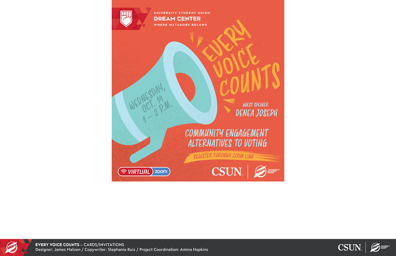 Honorable Mention: Every Voice Counts; California State University–Northridge
