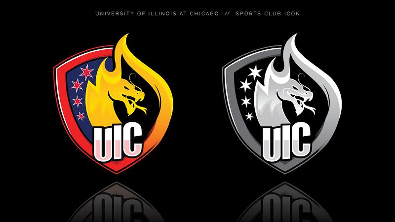 Third: UIC Sports Club Icon Identifier; University of Illinois–Chicago