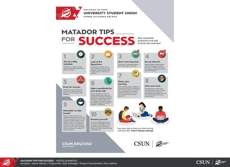 First: Matador Tips For Success; California State University–Northridge