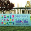 Second: Banner for Zumba Beach Party; The California State University–Sacramento