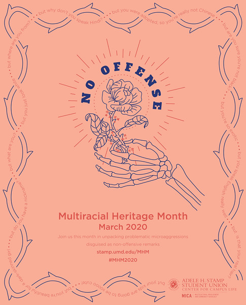 First: Multiracial Heritage Month 2020 Shirt; University of Maryland