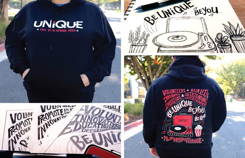 Second: Hoodie for UNIQUE Programs Staff; California State University–Sacramento