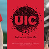 Third: UIC Logo UIClife Crowd T-shirt; University of Illinois–Chicago